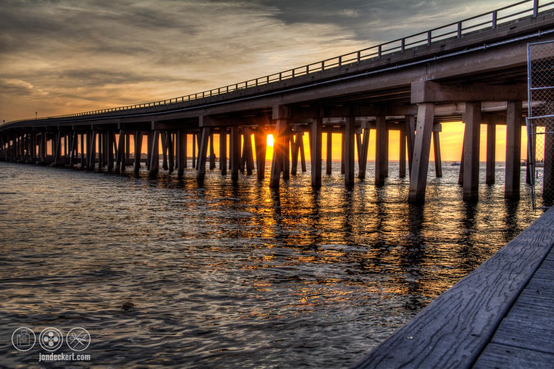 Sunset of the Destin Bridge, Destin Florida