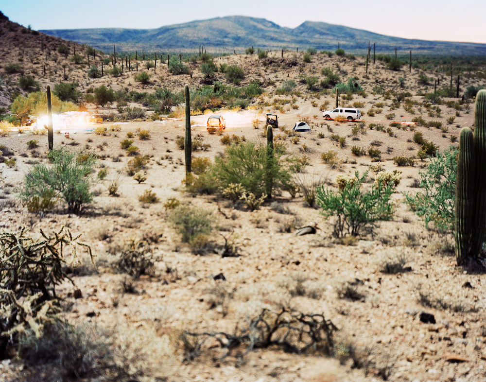 """A Night in the Desert with Fellow Travelers, Barry M. Goldwater """"Bombing"""" Range, Arizona, 2006"""