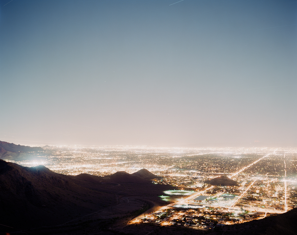 Watching Airplanes Land and Takeoff Over Phoenix, Arizona for Sixty Minutes, 2010