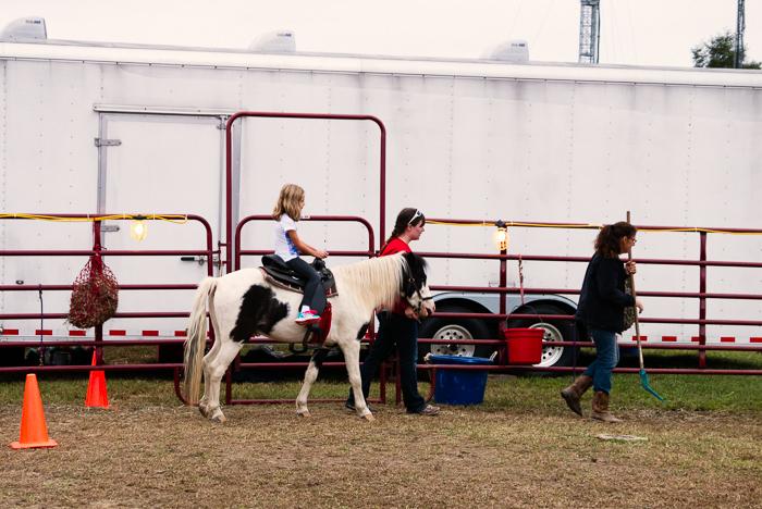 Beatrix went on a pony ride.