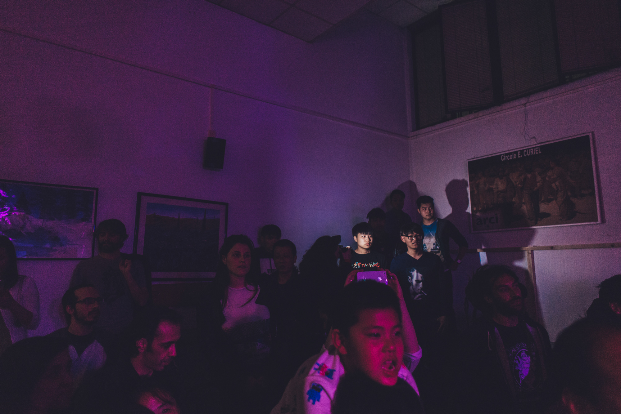 Prato, April 2016. Chinese and Italian people attending the Demerit concert in Chinatown at Circolo E.Curiel.