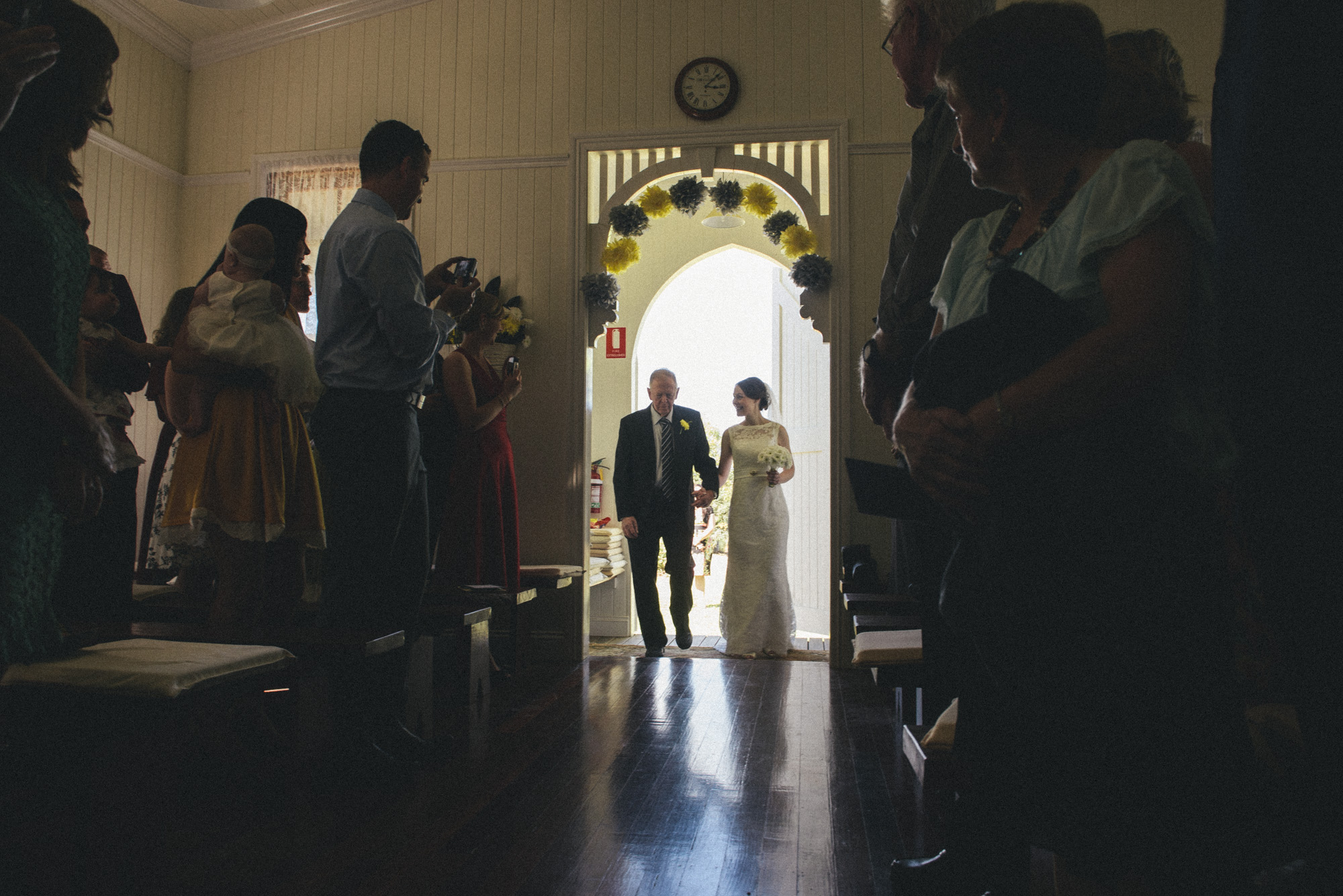walking down the aisle  |  brisbane wedding photography  |  fuschia photography