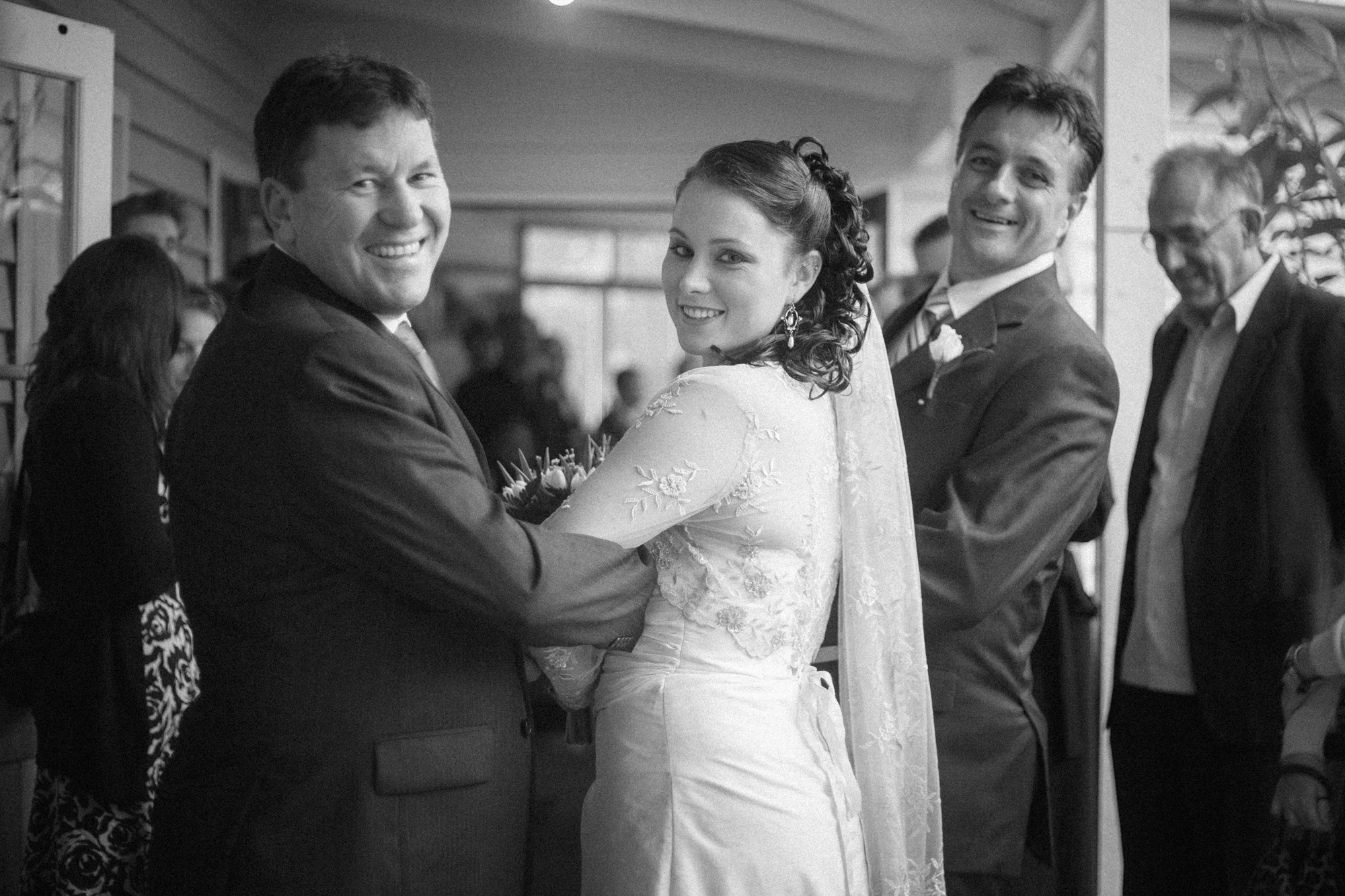 two dads, walking bride down the aisle  |  brisbane wedding photography  |  fuschia photography