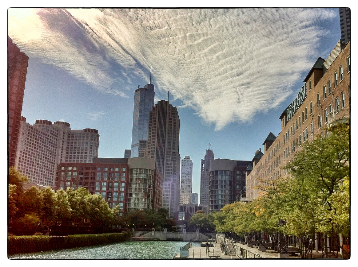 Chicago skyline from along Lake Michigan, shot September 17, 2010.