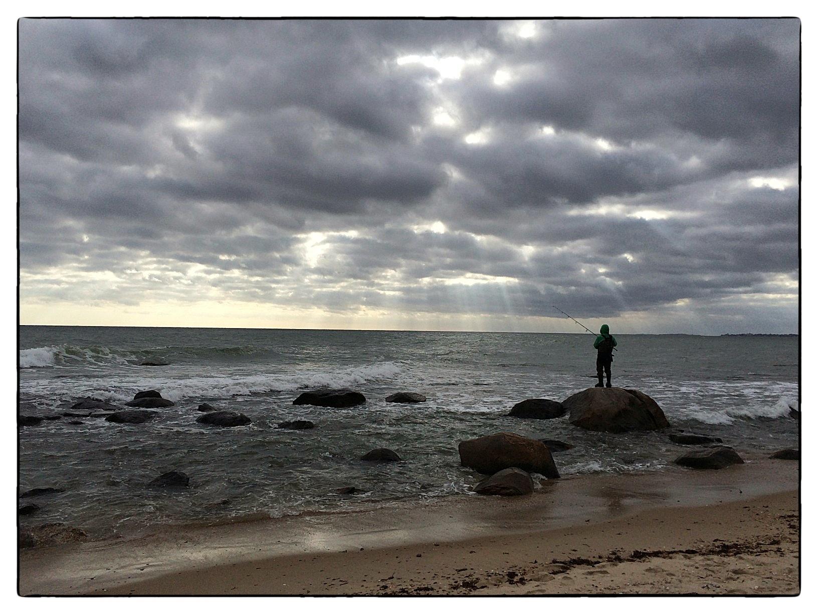 Weekapaug rocks, looking toward Misquamicut Beach, in Westerly, R.I., shot October 12, 2013.