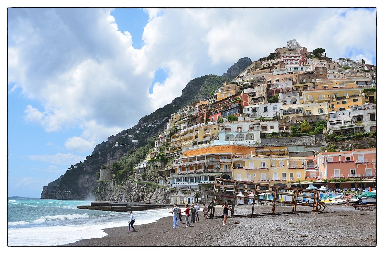 The beach at Positano, Italy, shot May 23, 2013.