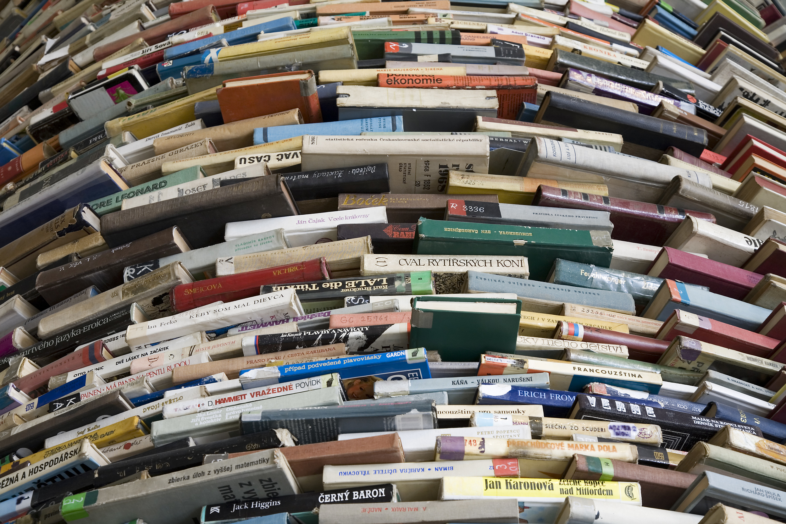 Tower of Used Books by ©  Jorge Royan viaWikimedia Commons.