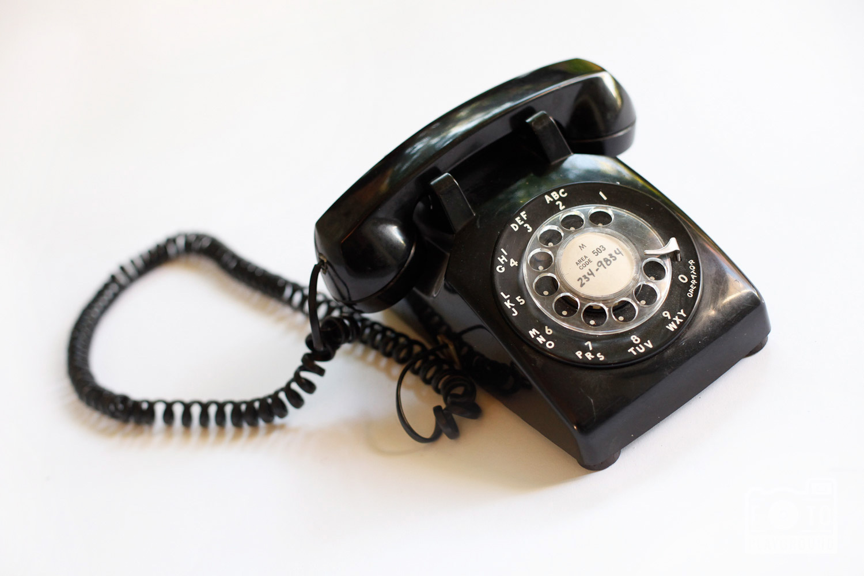 retro black dial telephone