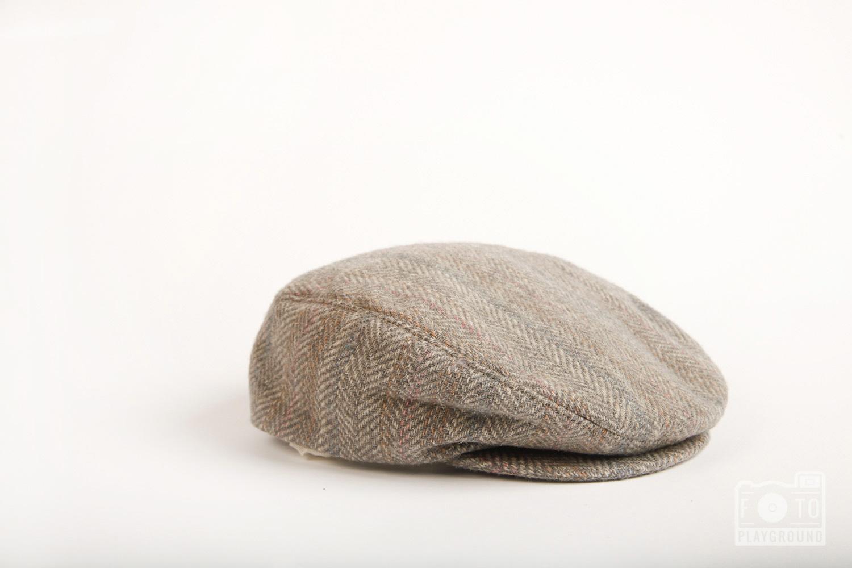vintage gray wool cap