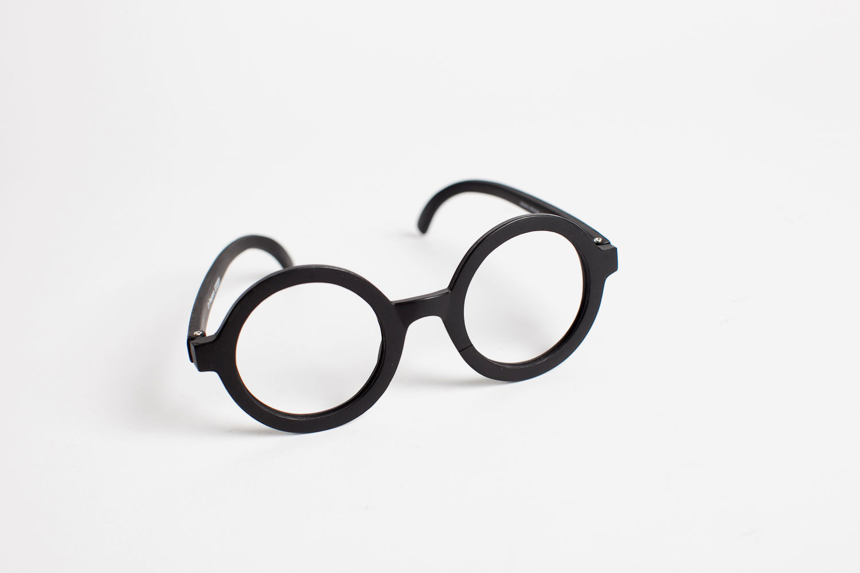 vintage-style round glasses