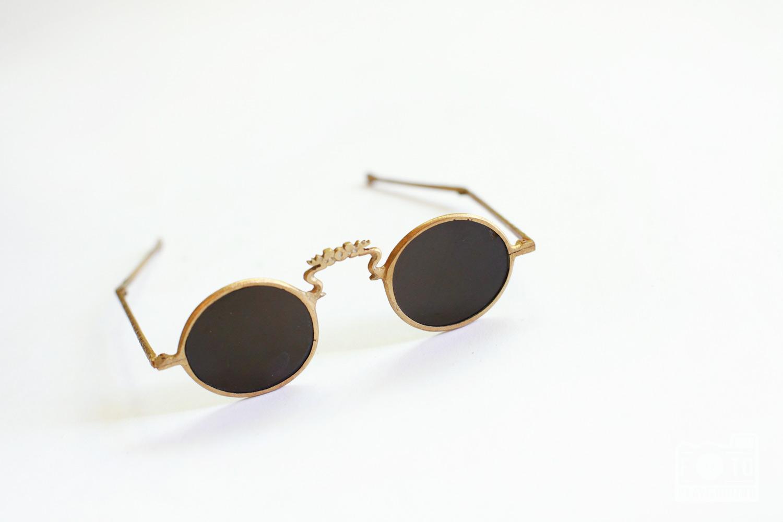 folding brass sunglasses