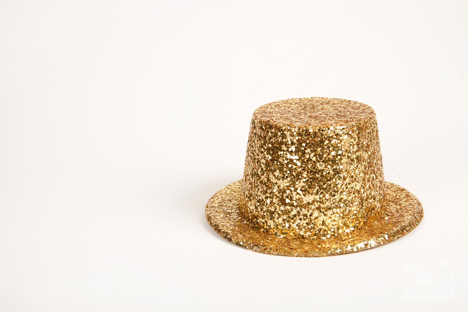 gold glitter party hat