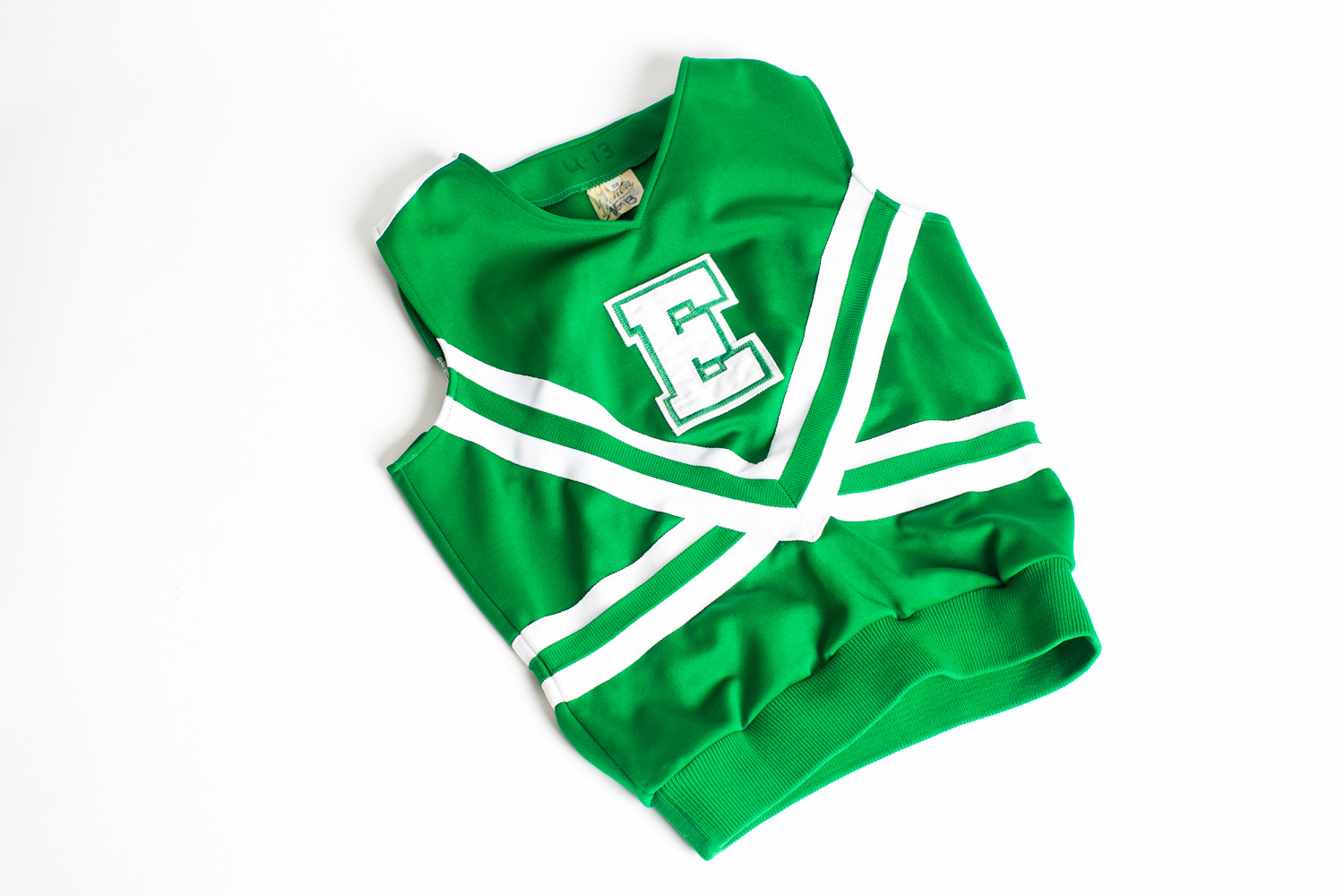 green cheerleader top (small adult size)