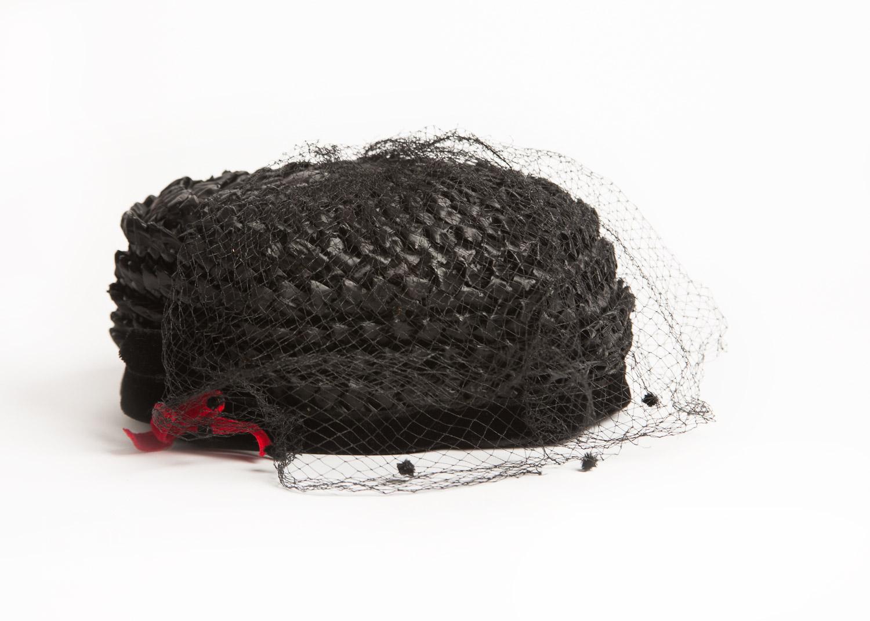 vintage twisted black paper hat