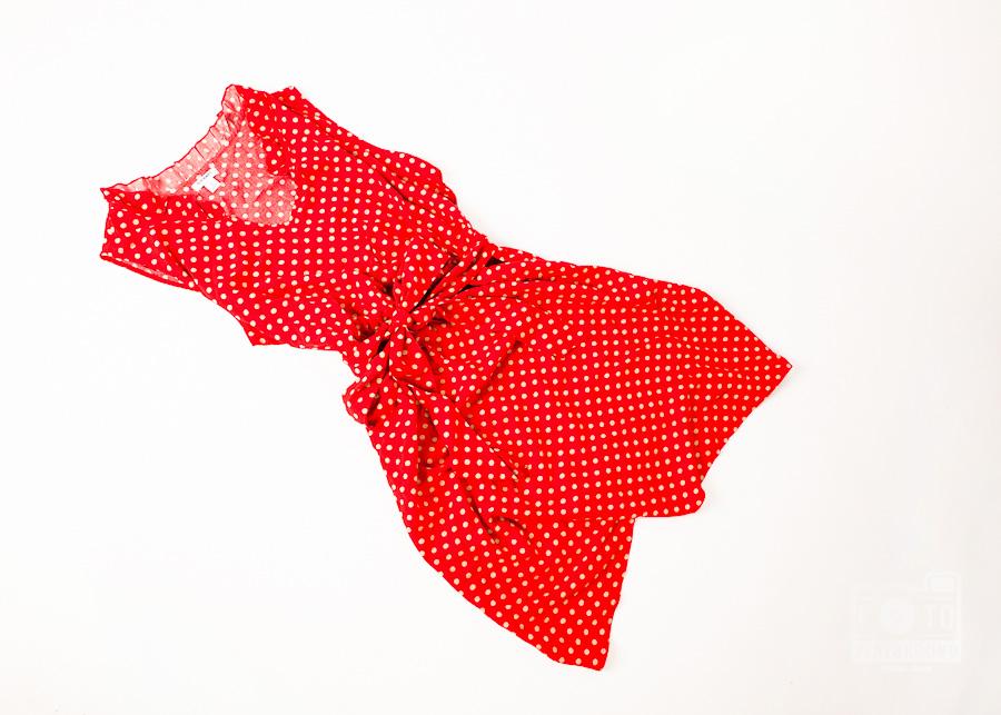 vintage style red polka dot dress