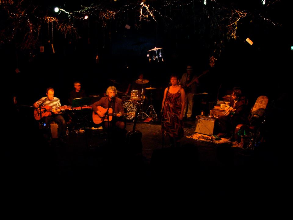 Night Radio launch Backroads at Darlinghurst Theatre, with Trish Young. May 2009