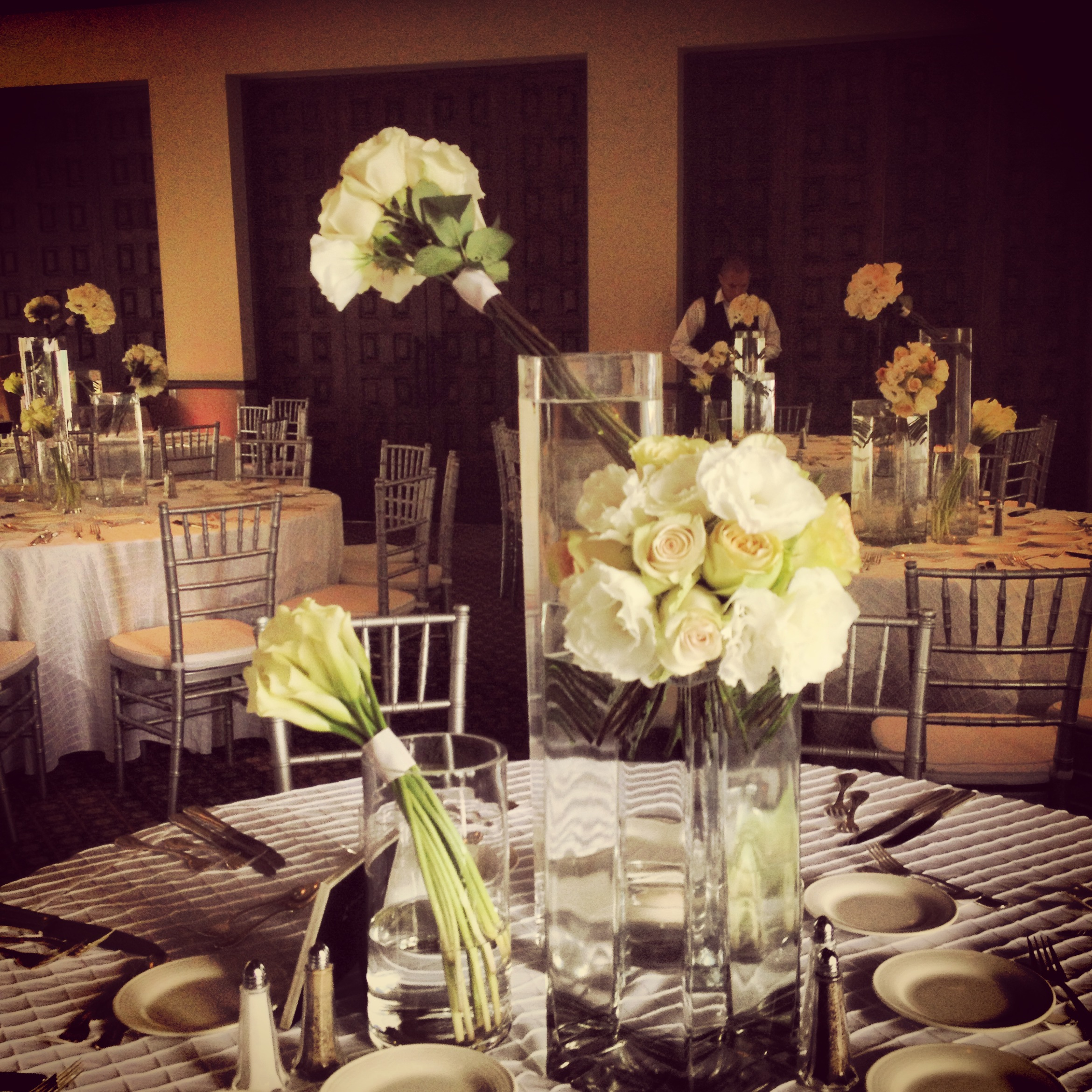Dinning tables and the sweetheart table.