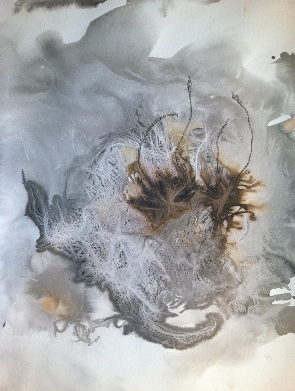 Hair Print (grey seven)