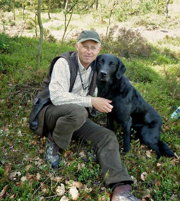 To rigtige venner :-)  Buddy og jeg på markprøve