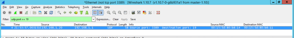 Packet capture from attacker's PC