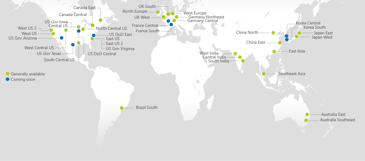 Photo courtesy of Microsoft. https://azure.microsoft.com/en-us/regions/