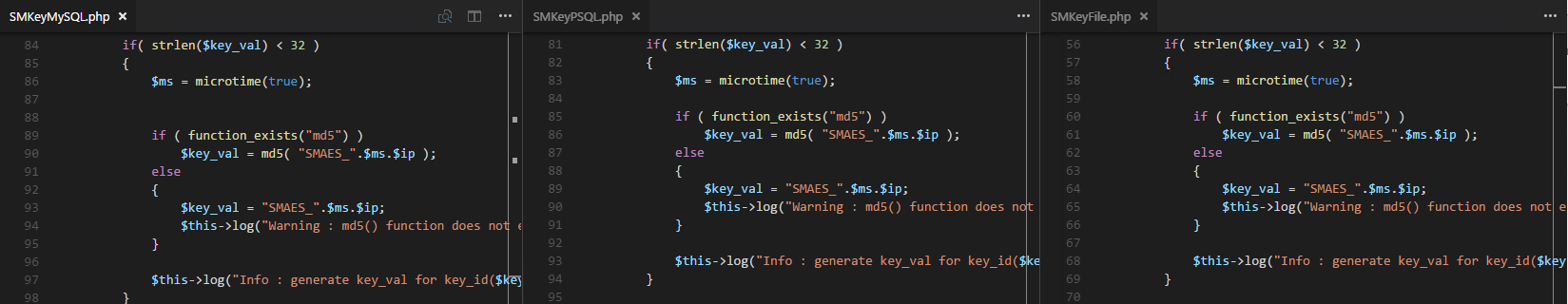 New client key generation code is cut and pasted between the different key storage methods.