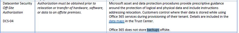 Microsoft O365 Mapping of CSA CMM v3.0.1