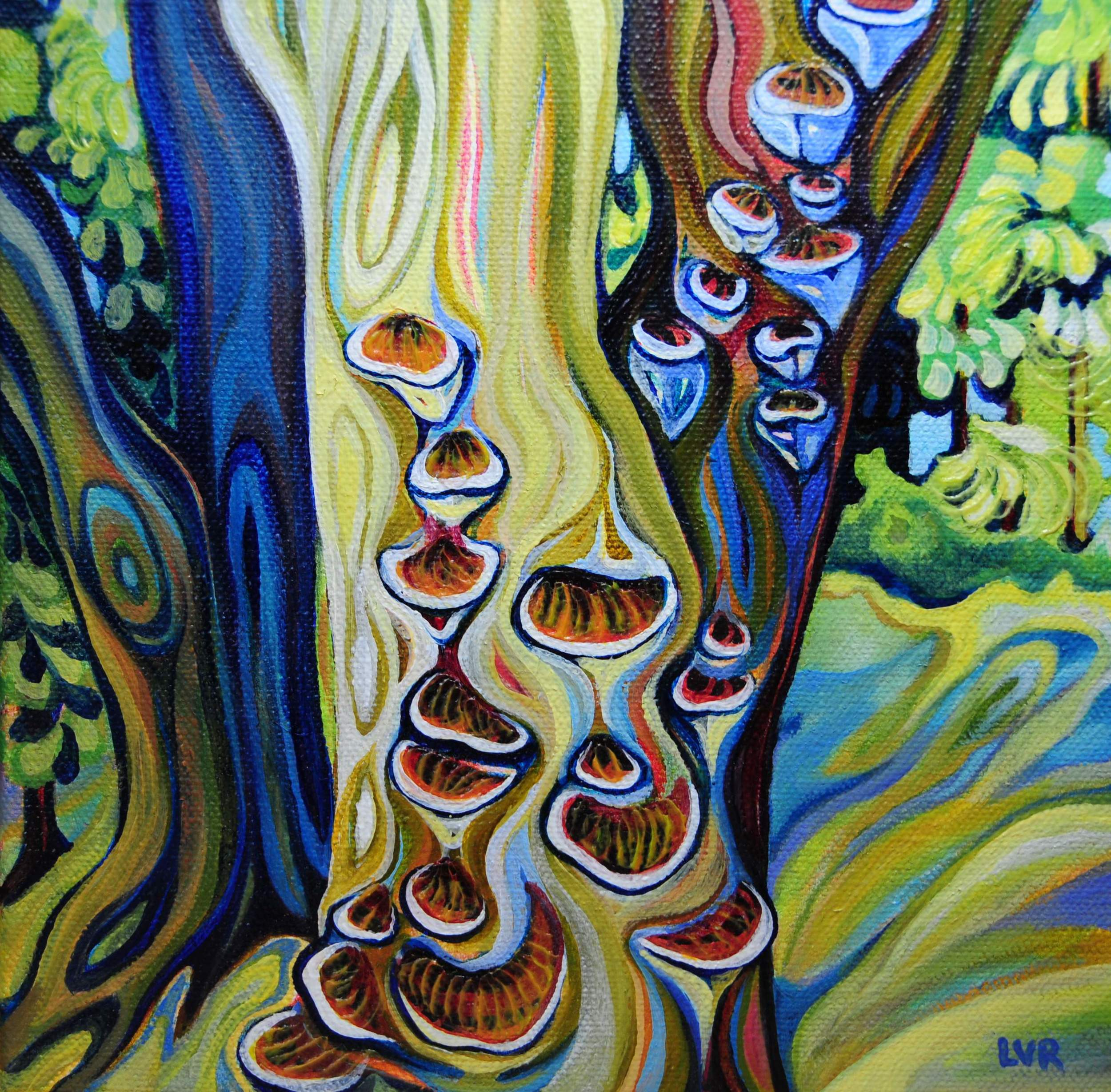 """Enchanted Woods    oil on canvas  8"""" x 8"""""""