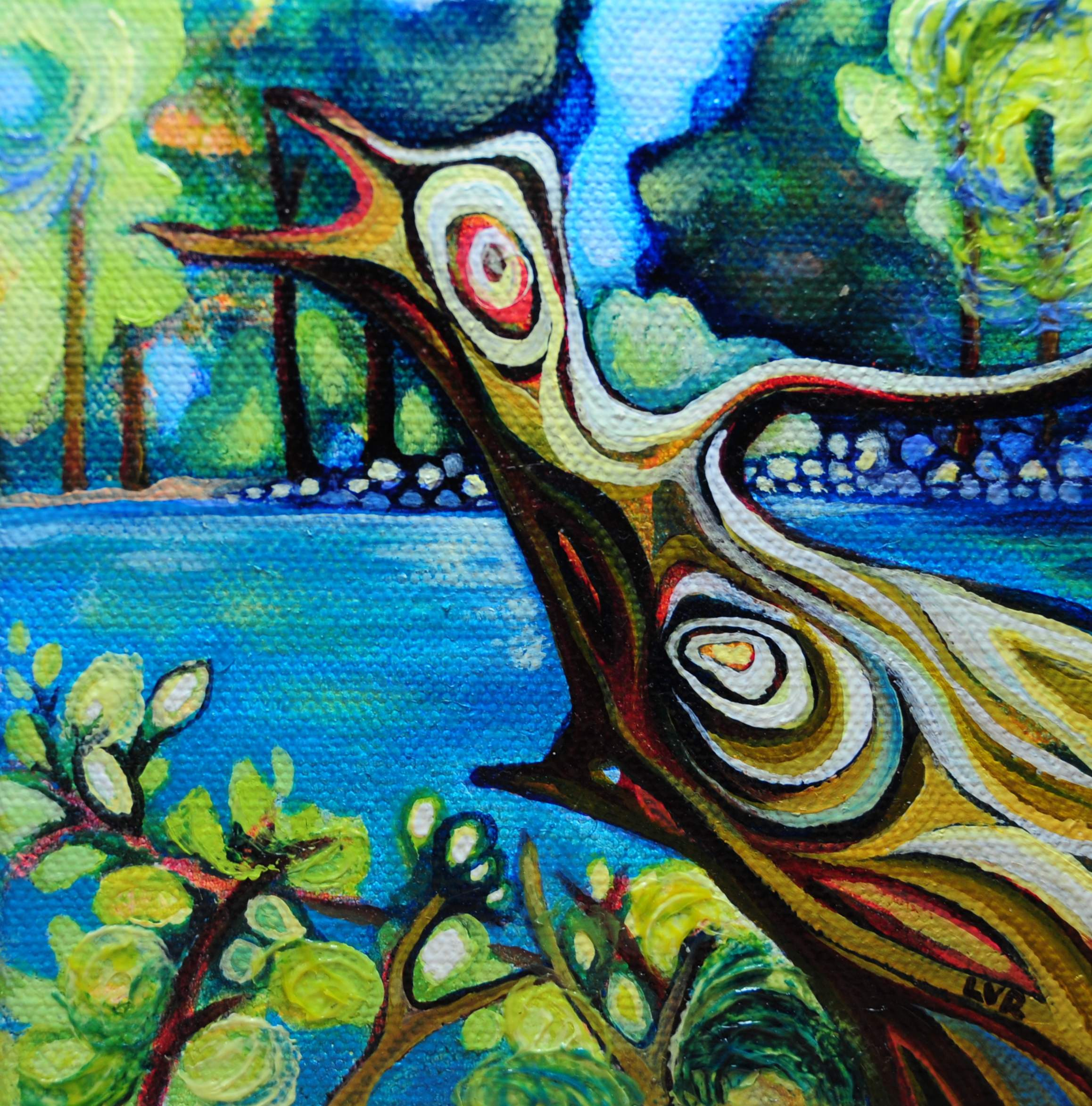 """Edges of Enchantment   oil on canvas  5"""" x 5""""  SOLD"""