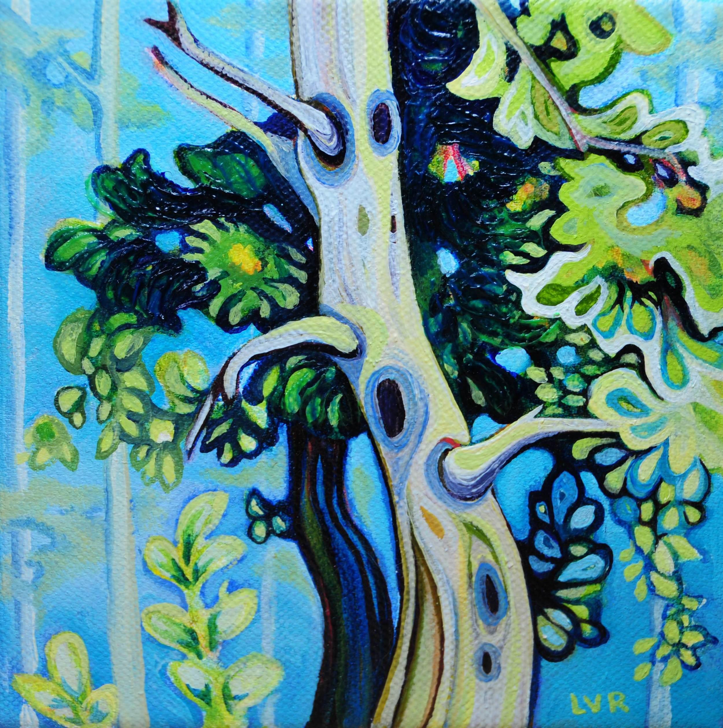"Spellbound   oil on canvas  8"" x 8"""