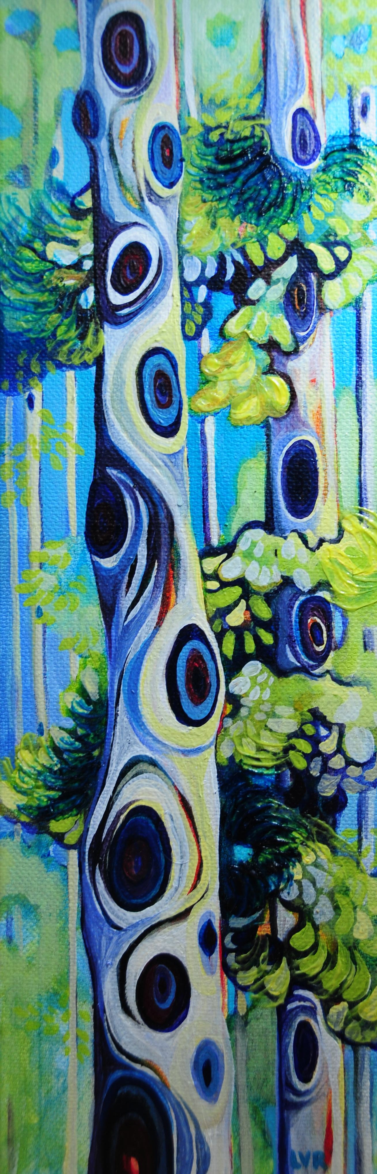 """Serene Sentinel   oil on canvas  12"""" x 4""""  SOLD"""