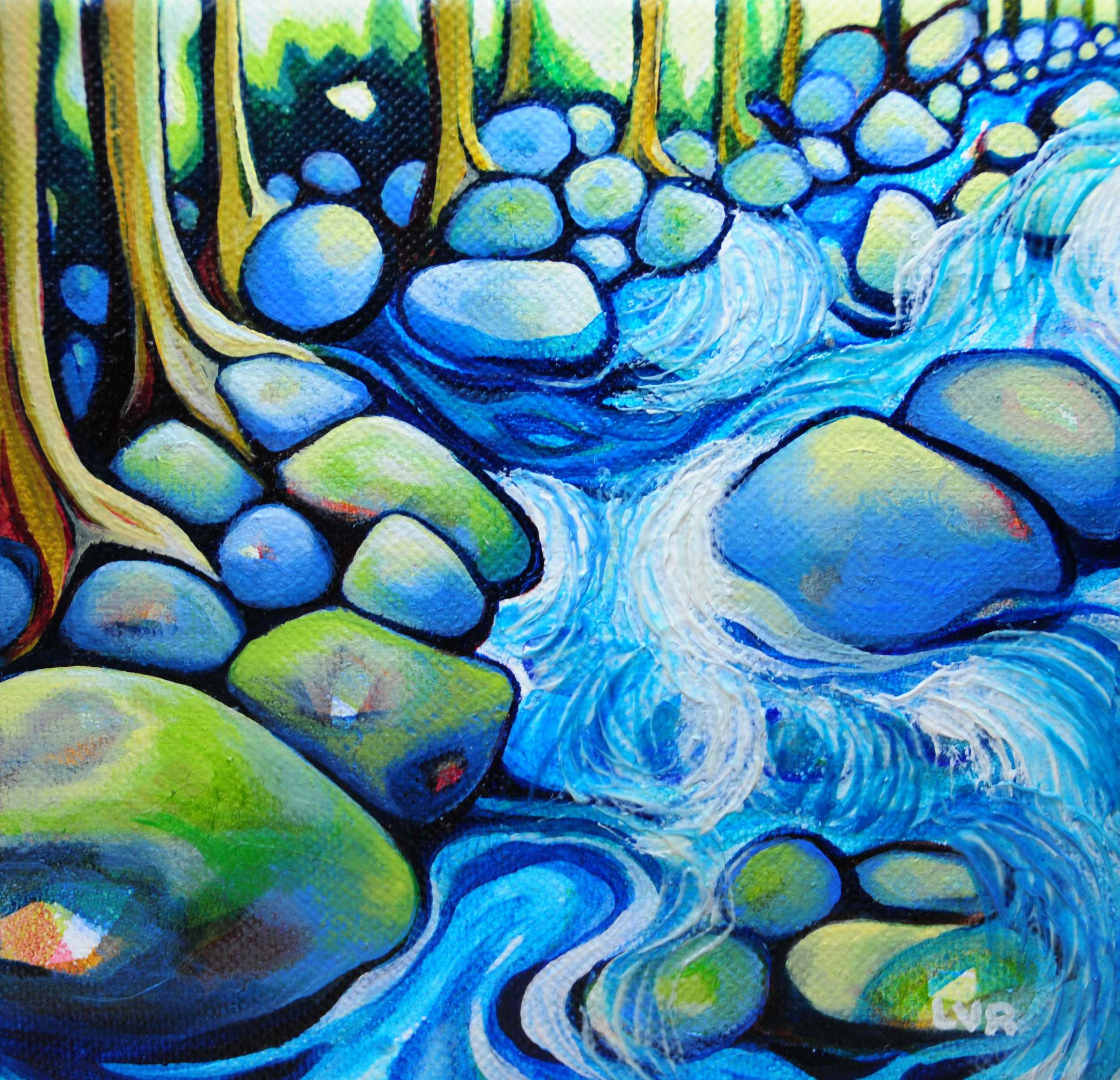 """Emerging Effervescence  oil on canvas  6"""" x 6""""  SOLD"""