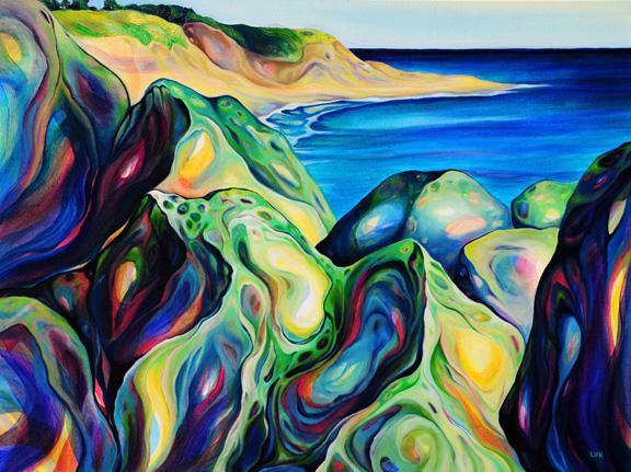 "Dune Glimpse    oil on canvas  30""x 40"""