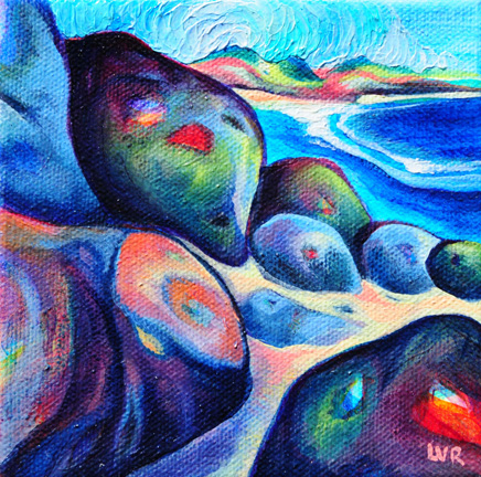 """Herring Point's Cove   oil on canvas  5"""" x 5""""  SOLD"""