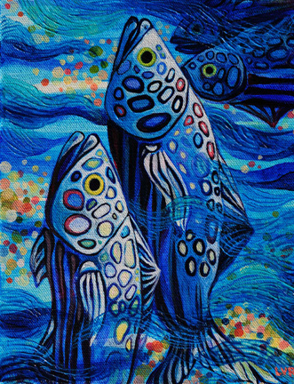 """Oceanic Soiree Clique 10   oil on canvas  10"""" x 8"""""""