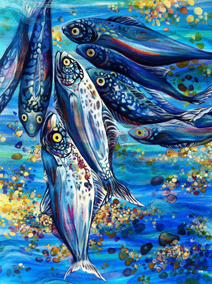 """Oceanic Soiree   oil on canvas  30"""" x 24""""  SOLD"""