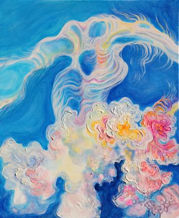 "Wispy Bloom  oil on canvas  24"" x 20"""