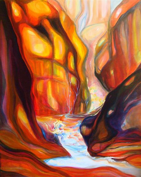 """Cascade   oil on canvas  60"""" x 48"""""""