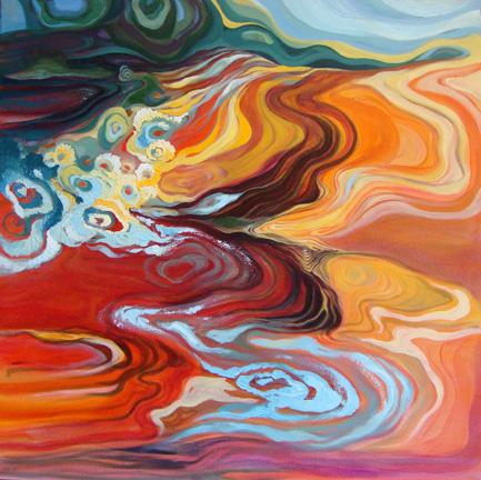 """Fluidity   oil on canvas  36"""" x 36"""""""