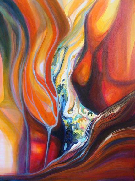 """Emergence   oil on canvas  40"""" x 30"""""""