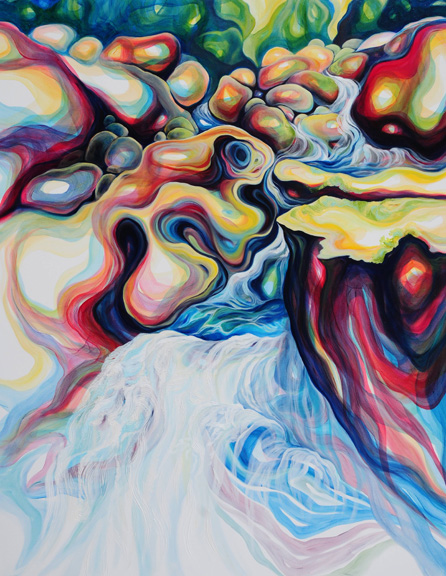 """Transitional Flow  oil on canvas  60"""" x 48"""""""