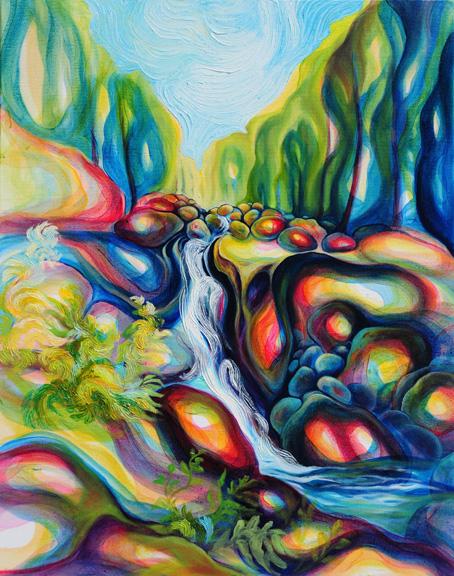 """Cascading   oil on canvas  30"""" x 24"""""""