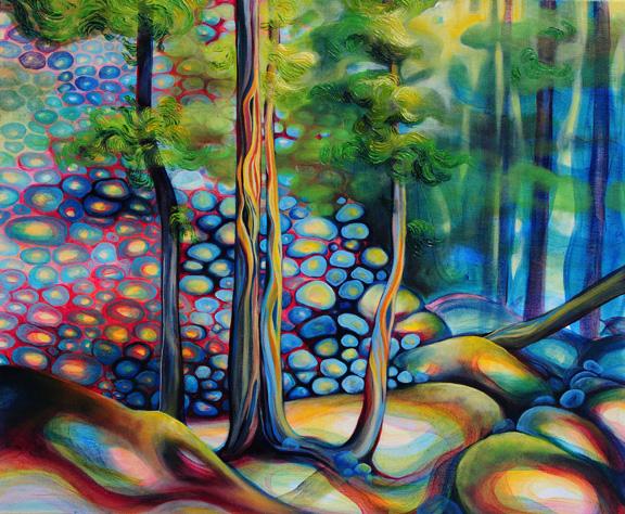 "Serene Scene  oil on canvas  20"" x 24""  SOLD"