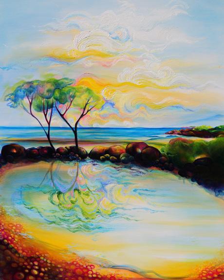 "Playa Path   oil on canvas  60"" x 48"""