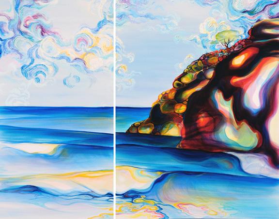 "Point Pelada   oil on canvas  48""x24"" & 48""x36"""