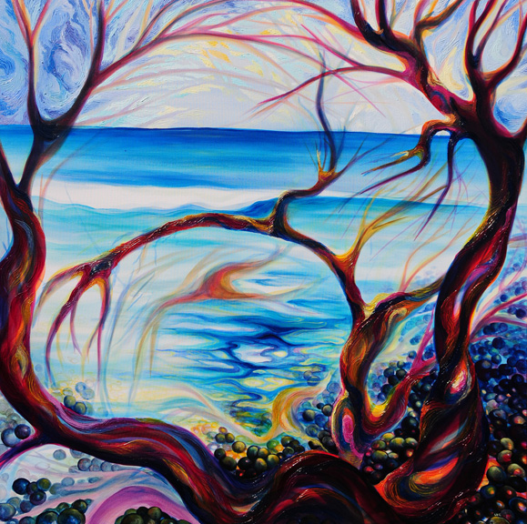 "Pelada Point Path   oil on canvas  48"" x 48"""