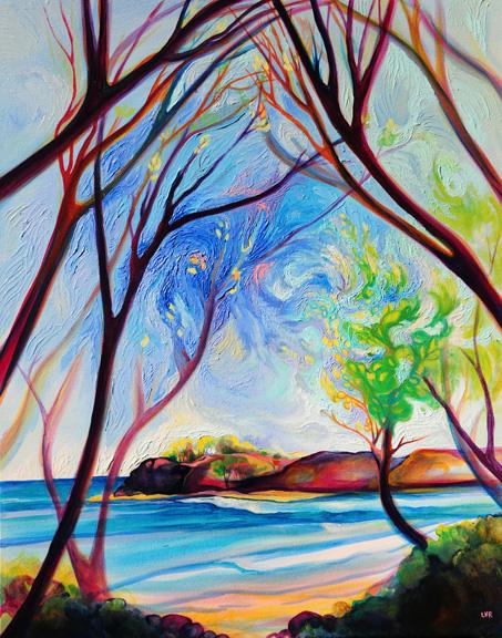 "Playa Guiones Nosara   oil on canvas  30"" x 24"""