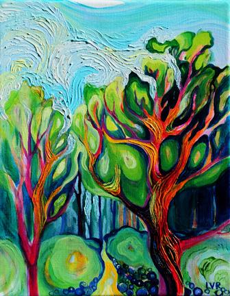 "Pelada Path   oil on canvas  10""x8""  SOLD"