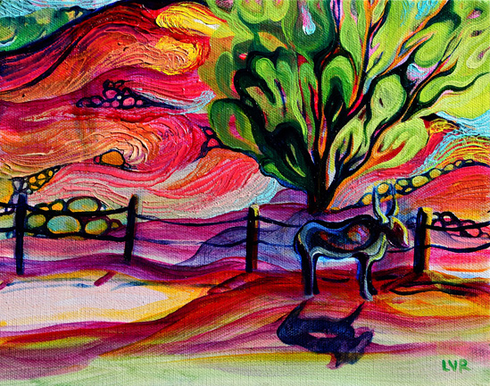 """Drive Through    oil on canvas  8"""" x 10""""  SOLD"""