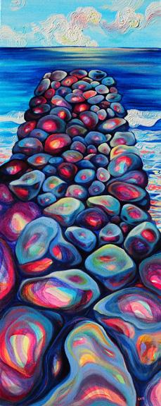 """Vanishing Point   oil on canvas  40""""x16"""""""